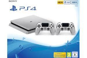 Produktbild von Sony PS4 Slim silber + 2. Controller + Fifa 18 für 279€