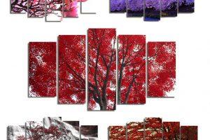 Produktbild von 5-teiliges Wandbild Baum – Design 1