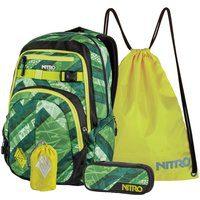 Produktbild von Otto Deal des Tages: Nitro Schulrucksack-Set mit 17-Zoll Laptopfach, 4tlg., Chase Wicked Green grün