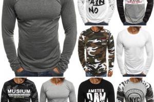 Produktbild von Longsleeve Klassiker Langarm Shirt Sweatshirt Herren OZONEE J.STYLE 2088 MIX